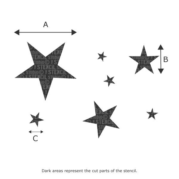 Stars Stencil from The Stencil Studio Ltd