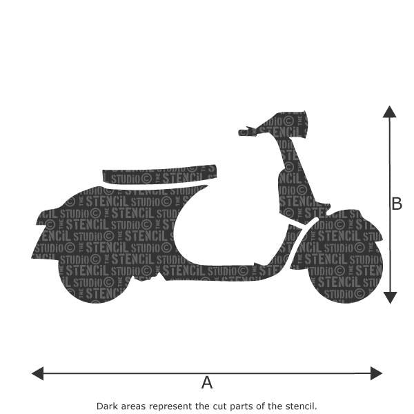 Scooter stencil from The Stencil Studio Ltd