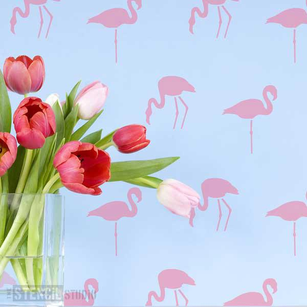 Flamingoes Stencil from The Stencil Studio Ltd - Size XS
