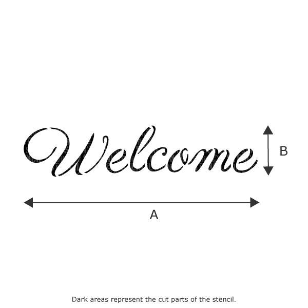 Welcome stencil from The Stencil Studio Ltd