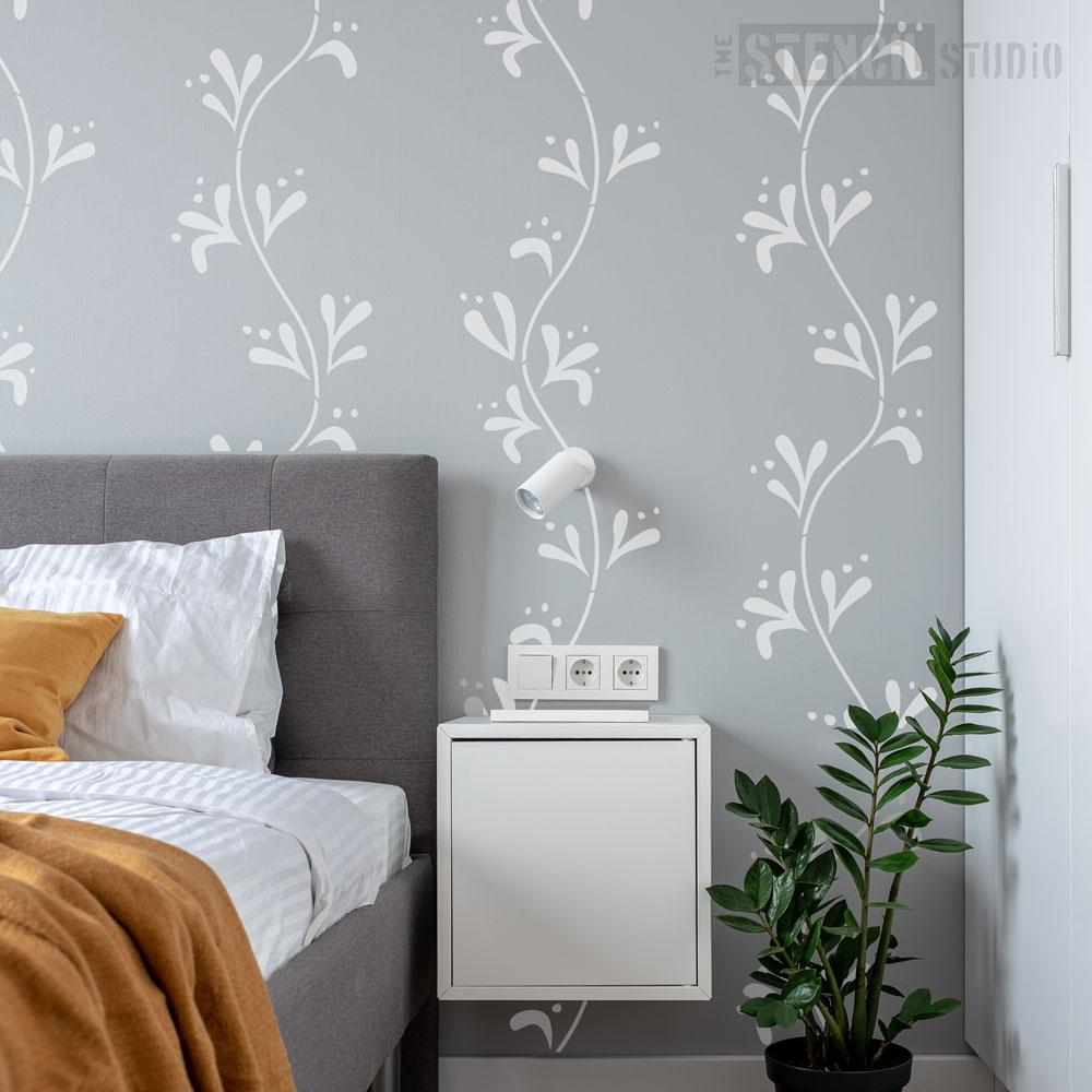 Scandi Leaf Repeat Stencil