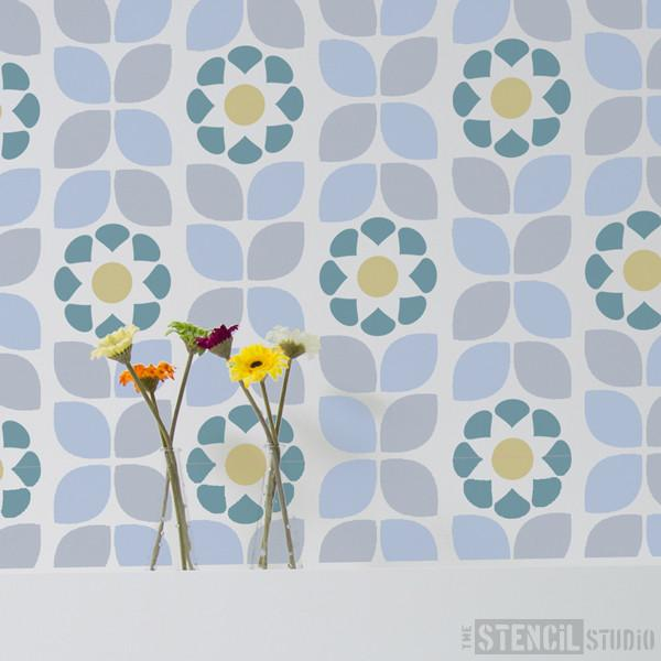 Dorit Flower pattern stencil from The Stencil Studio Ltd - Size M