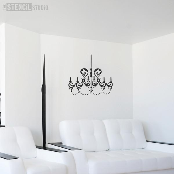 chandelier stencil from the stencil studio ltd size XL