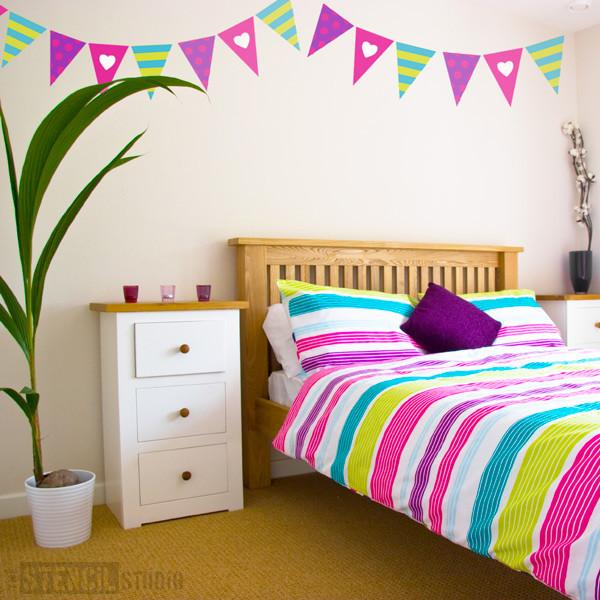 bunting for girls from the stencil studio ltd size L