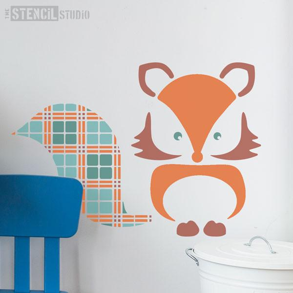 Fergus Fox stencil from The Stencil Studio Ltd - Size XL