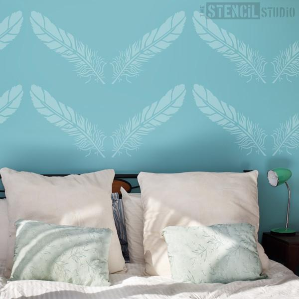 Feather stencil from The Stencil Studio Ltd - Size L