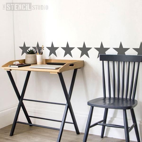 Star border Stencil from The Stencil Studio - Size S