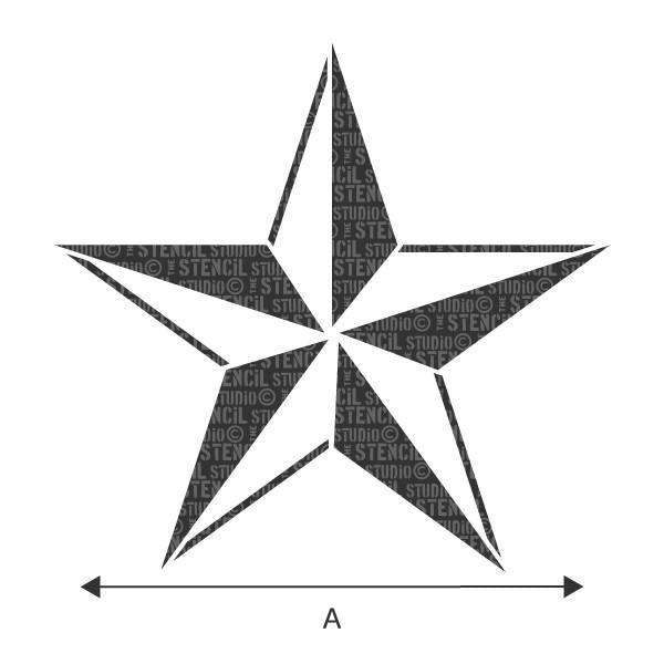 Nautical star stencil from The Stencil Studio
