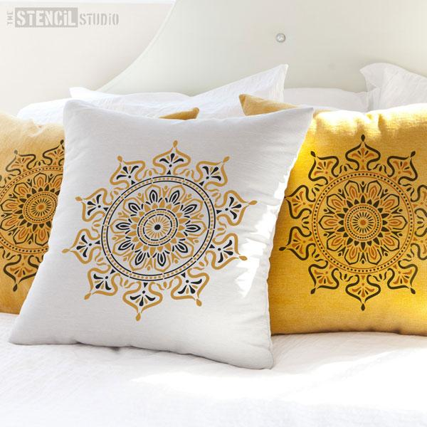 Zara Mandala Indian Motif stencil from The Stencil Studio - Size S