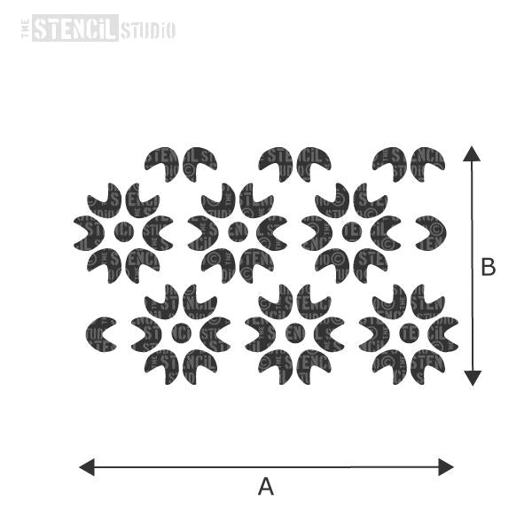 Scallop Flower Repeat Stencil from The Stencil Studio - choose size from dropdown box