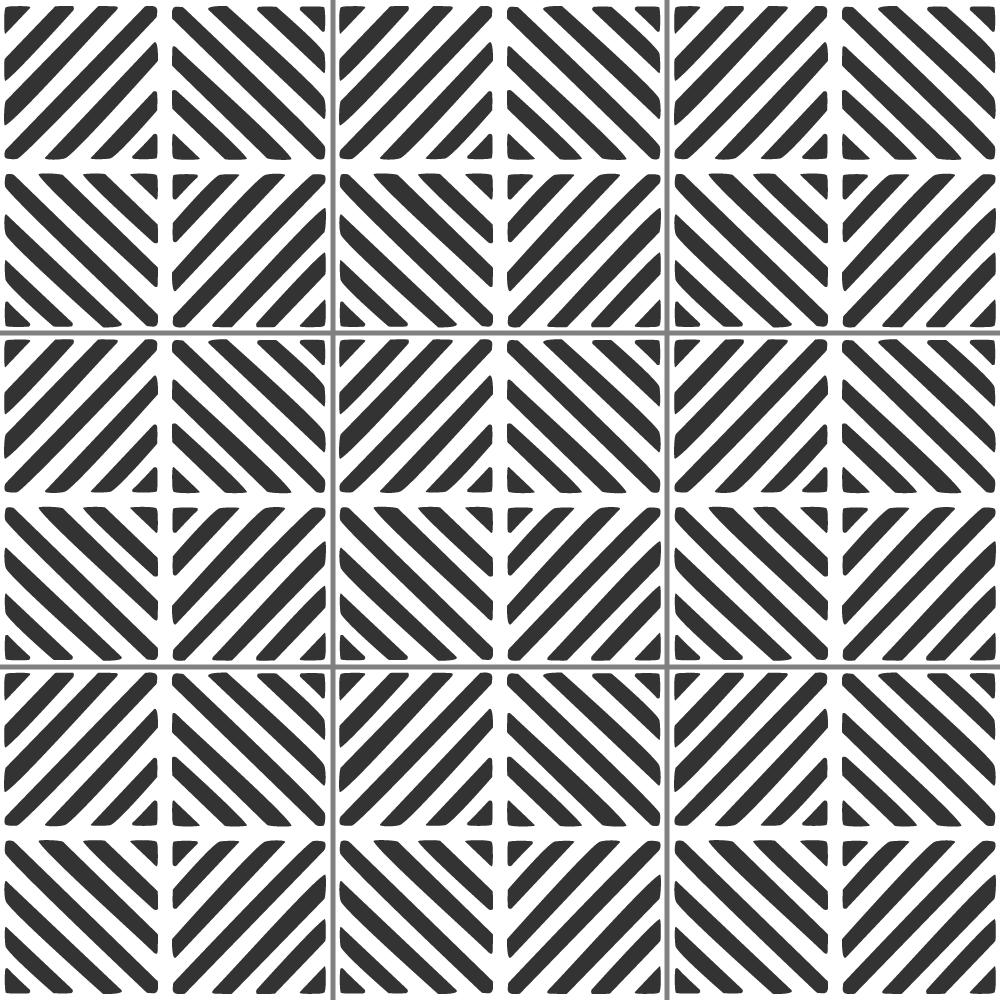 Chevron Squares Tile Stencil from The Stencil Studio