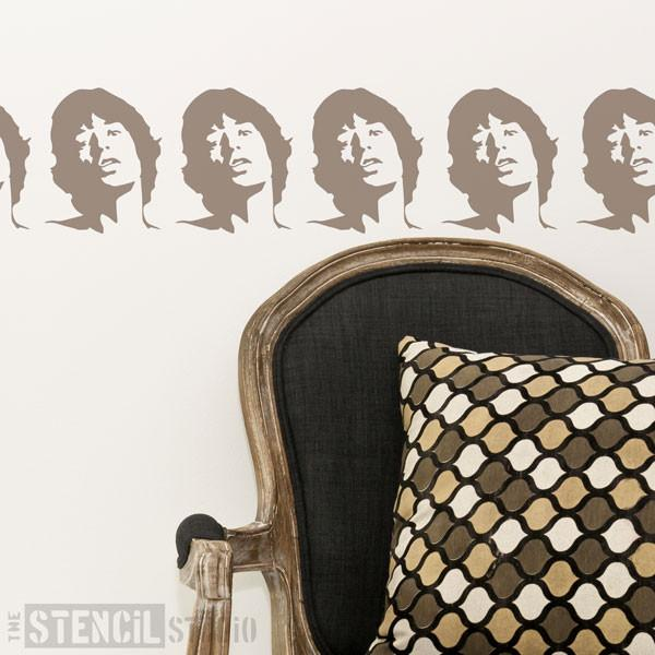 Mick Jagger stencil from The Stencil Studio Ltd - Size XS