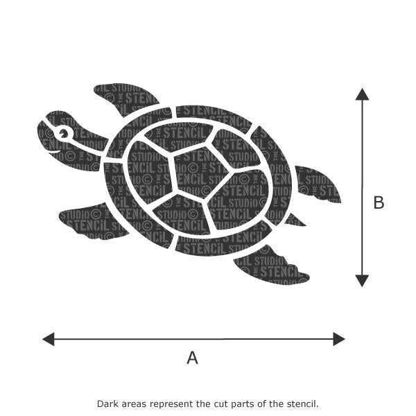 Mosaic Turtle stencil from The Stencil Studio Ltd