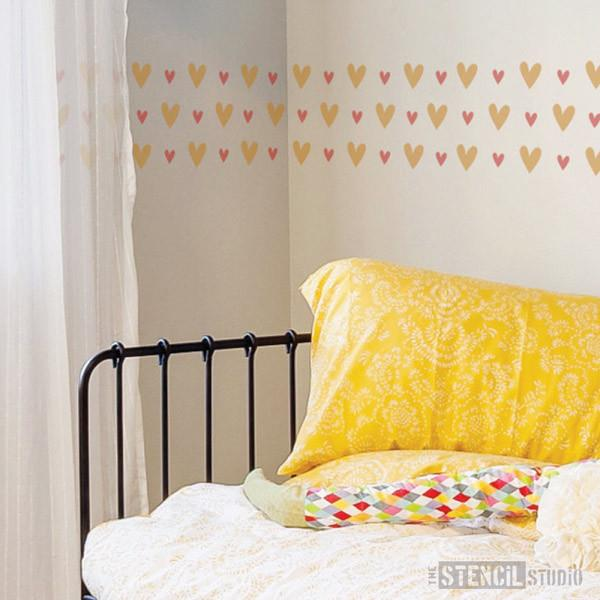Vintage Heart Border stencil from The Stencil Studio Ltd - Size XS