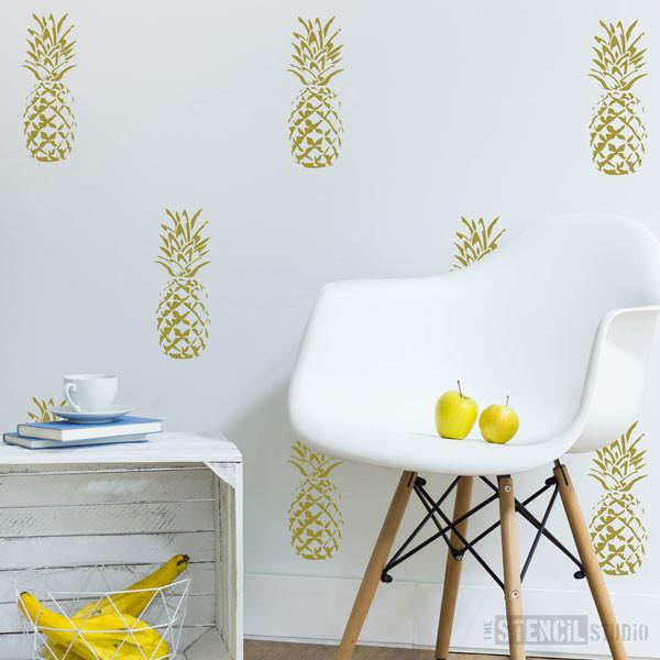 Pineapple stencil from The Stencil Studio Ltd - Size S