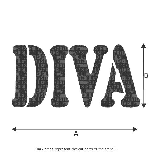 DIVA stencil from The Stencil Studio Ltd