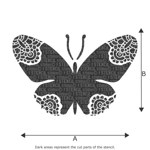 Lacewing Butterfly stencil from The Stencil Studio Ltd
