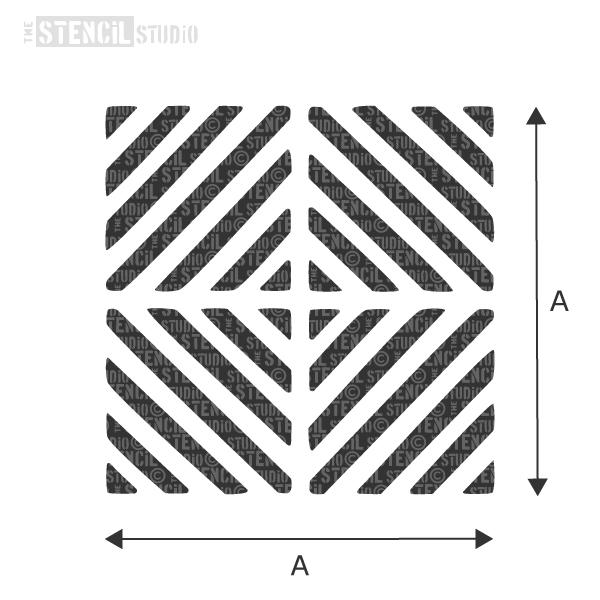Chevron Squares Motif stencil from The Stencil Studio - choose size from the dropdown box