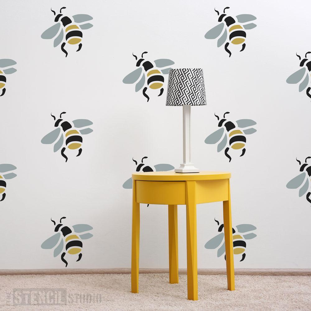 A2 Size DIY Decorative Bee Beautiful Stencil Template for Painting on Walls Furniture Crafts