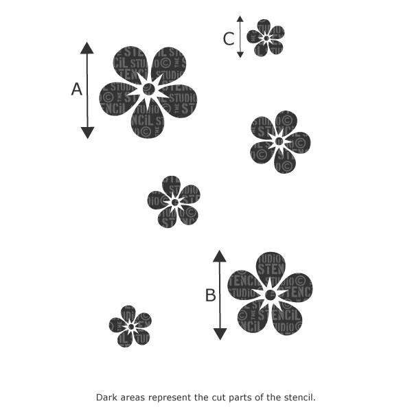 Forget-Me-Not Flower Stencil Set from The Stencil Studio Ltd