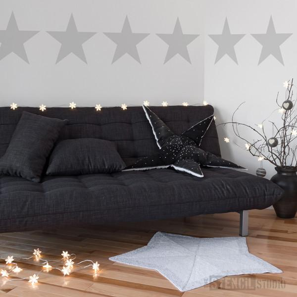 Star Border Stencil from The Stencil Studio Ltd - Size XL