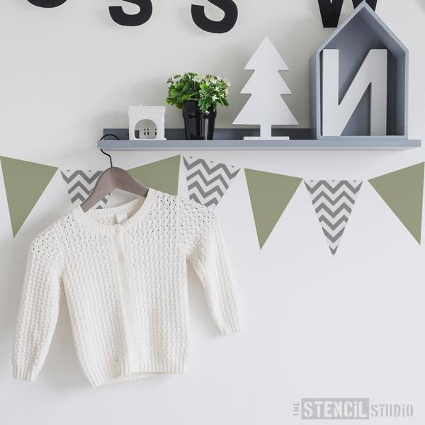 Chevron Bunting stencil from The Stencil Studio Ltd - Size XS