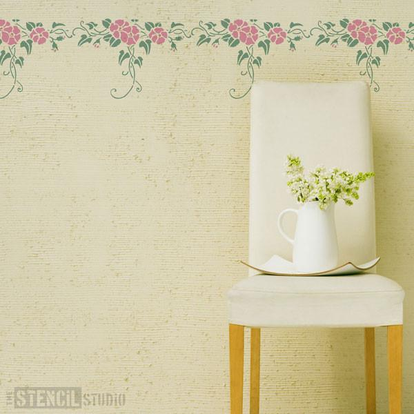 Rose & Ivy Border from The Stencil Studio Ltd - Size M