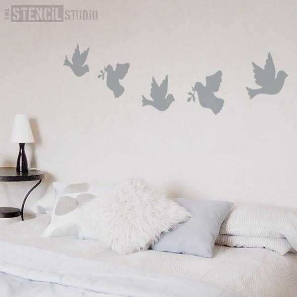 Doves Stencil from The Stencil Studio Ltd - Size L