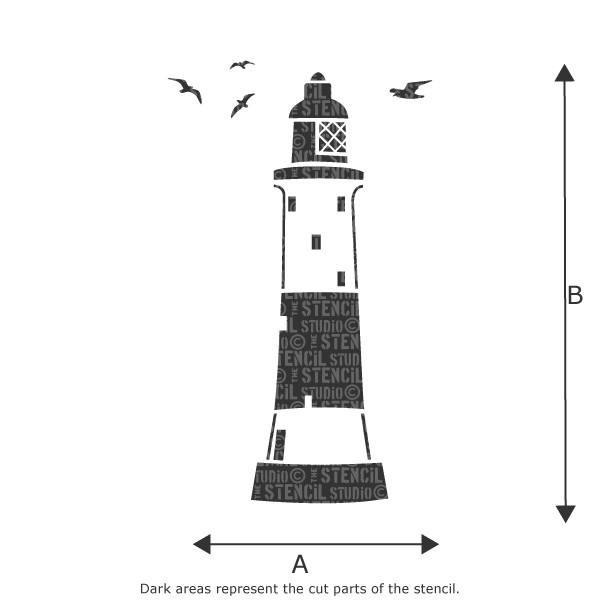 Portland Lighthouse stencil from The Stencil Studio Ltd