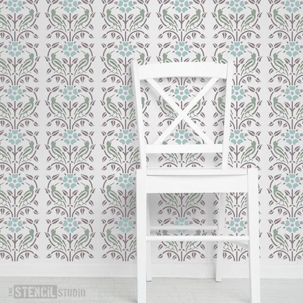 Kelmscott Border stencil from The Stencil Studio Ltd - Size XS