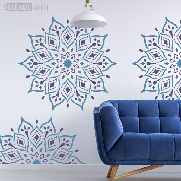 Rohan Indian Mandala Stencil from The Stencil Studio - Size XXL
