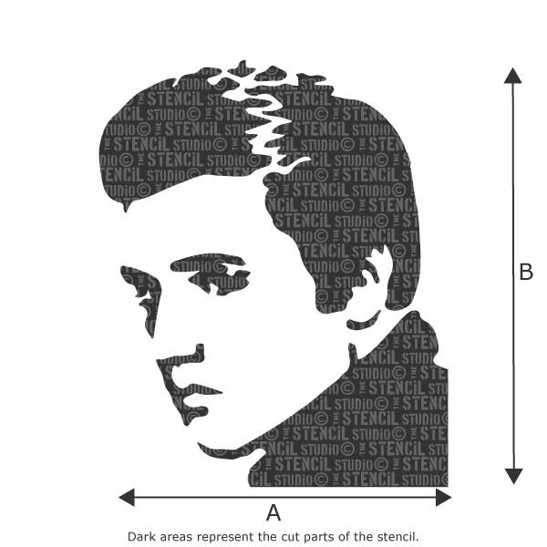 GRAFFITI ELVIS STENCIL FROM THE STENCIL STUDIO LTD