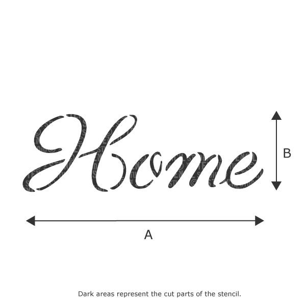 Home text stencil from The Stencil Studio Ltd