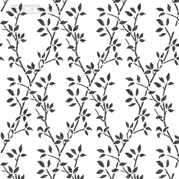 Leaf Trellis Repeat pattern stencil from The Stencil Studio
