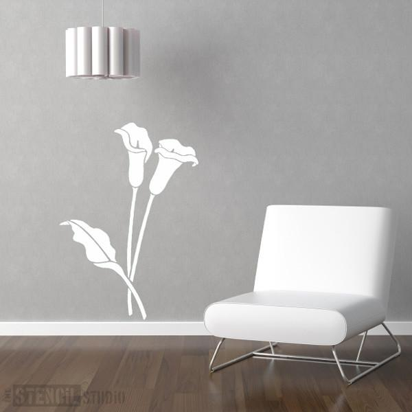 cala lilies stencil from the stencil studio Ltd size XL