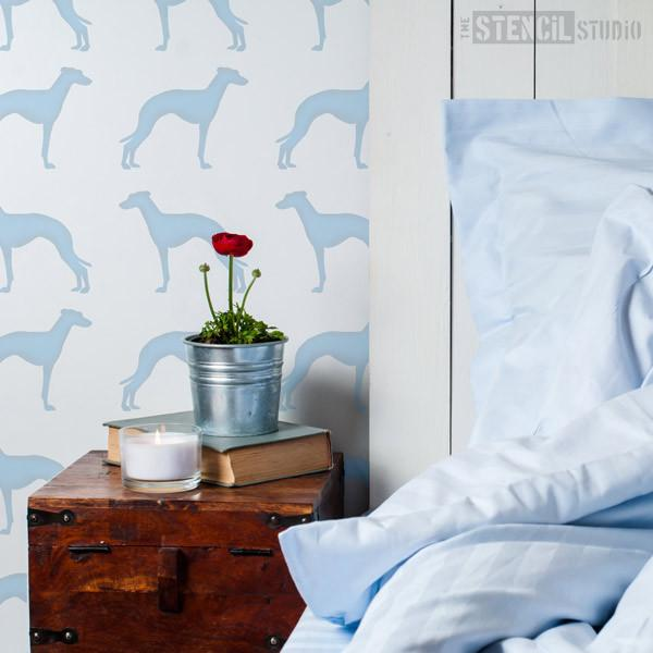 Greyhound dog stencil from The Stencil Studio Ltd - Size XS