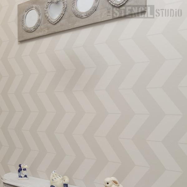 Chevron pattern stencil from the stencilstudio ltd - size xl