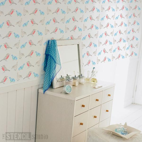 birds stencil from the stencil studio ltd size S