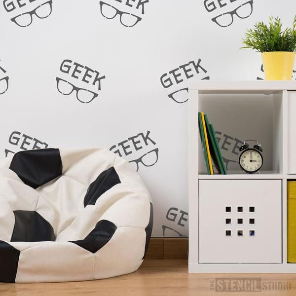 GEEK Glasses stencil from The Stencil Studio Ltd - Size S