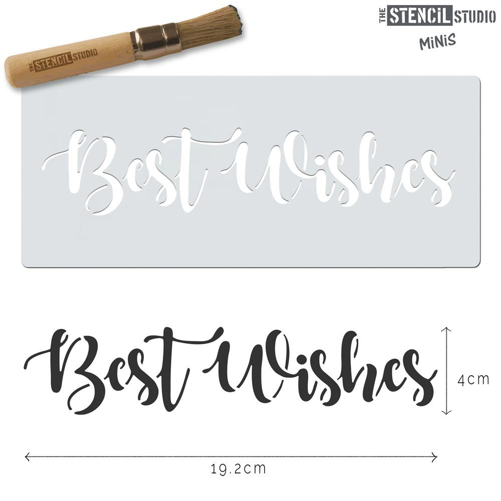 Best Wishes stencil MiNi from The Stencil Studio