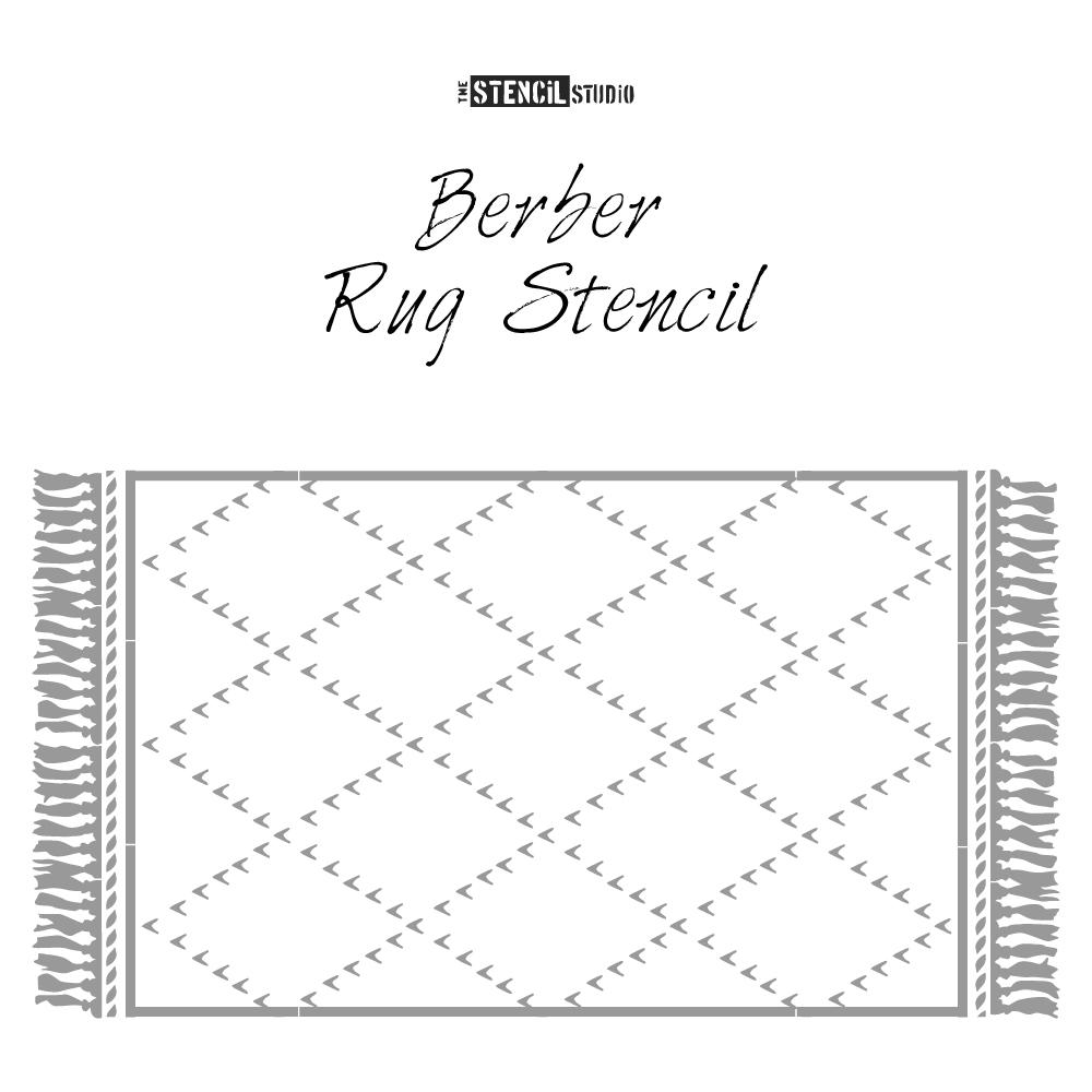 Berber Rug Stencil from The Stencil Studio