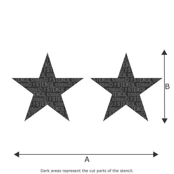 Star Border Stencil from The Stencil Studio Ltd