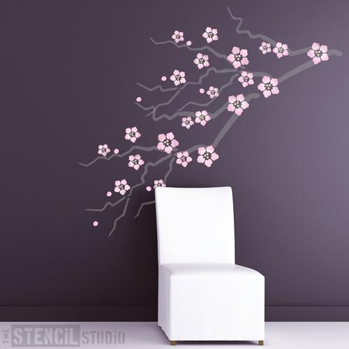 cherry blossom stencil from the stencil studio ltd size xl