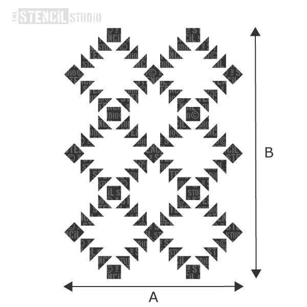 Checkers repeat pattern stencil from The Stencil Studio - choose size from the dropdown box