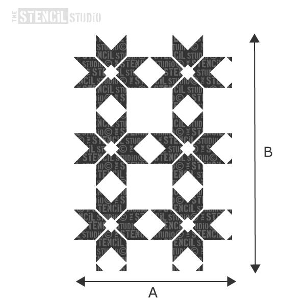 Argyle Squares Repeat stencil from The Stencil Studio - choose size from the dropdown box