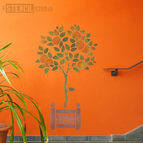 Orange Tree stencil from The Stencil Studio Ltd - Size XL
