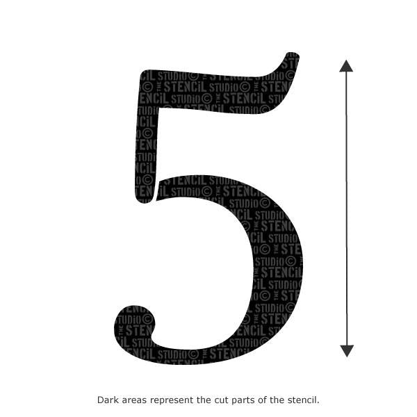 Decorative Number Stencil - 5