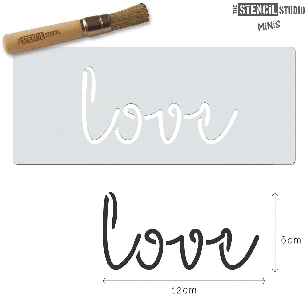 Love text stencil MiNi from The Stencil Studio