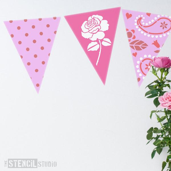 Polkadots Bunting stencil from The Stencil Studio Ltd - Size XS