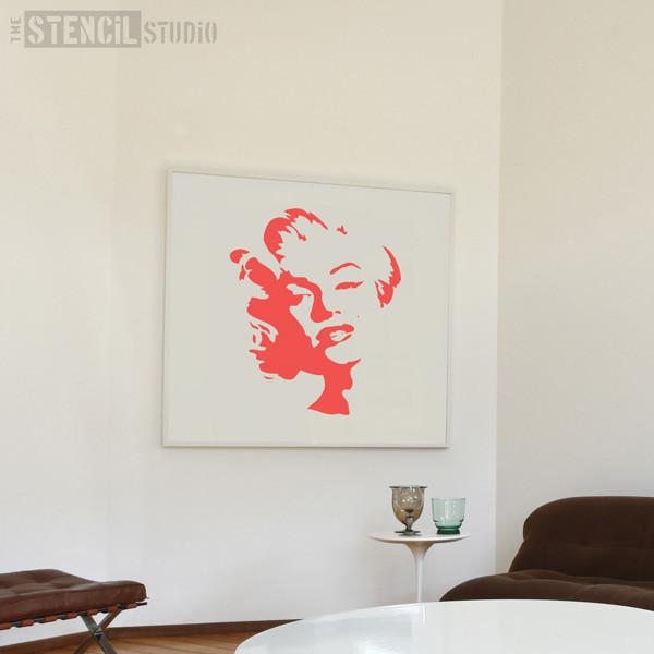 Marilyn stencil from The Stencil Studio Ltd - Size XL
